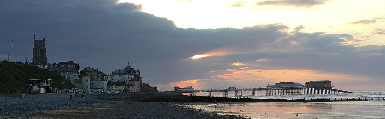Cromer at sunset.